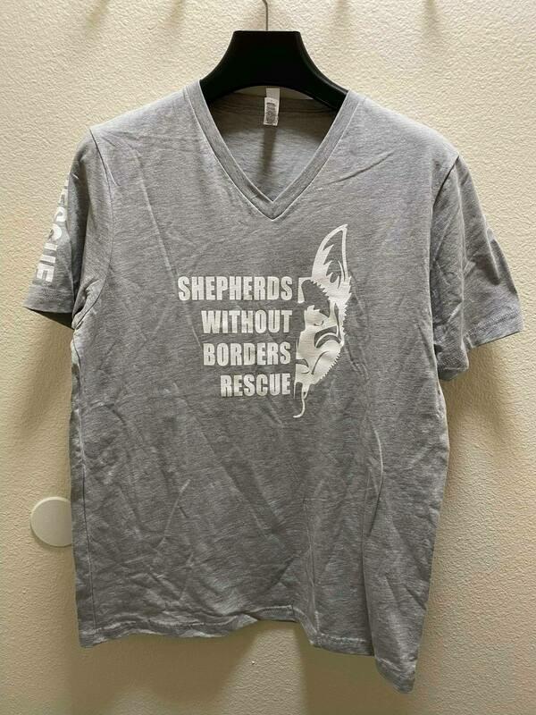 SWB Supporter V-Neck Shirt (Grey) - Small