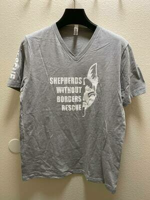 SWB Supporter V-Neck Shirt (Grey) - Large
