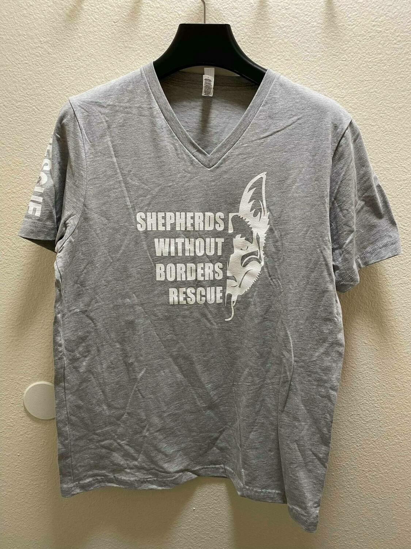 SWB Volunteer V-Neck Shirt - (GREY)