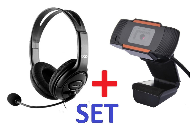 HEADSET  W/MICROPHONE  +   Web Camera HD 1080P   SET