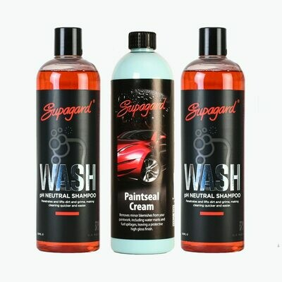 pH Neutral Shampoo (2 Bottles) & Paintseal Cream Pack