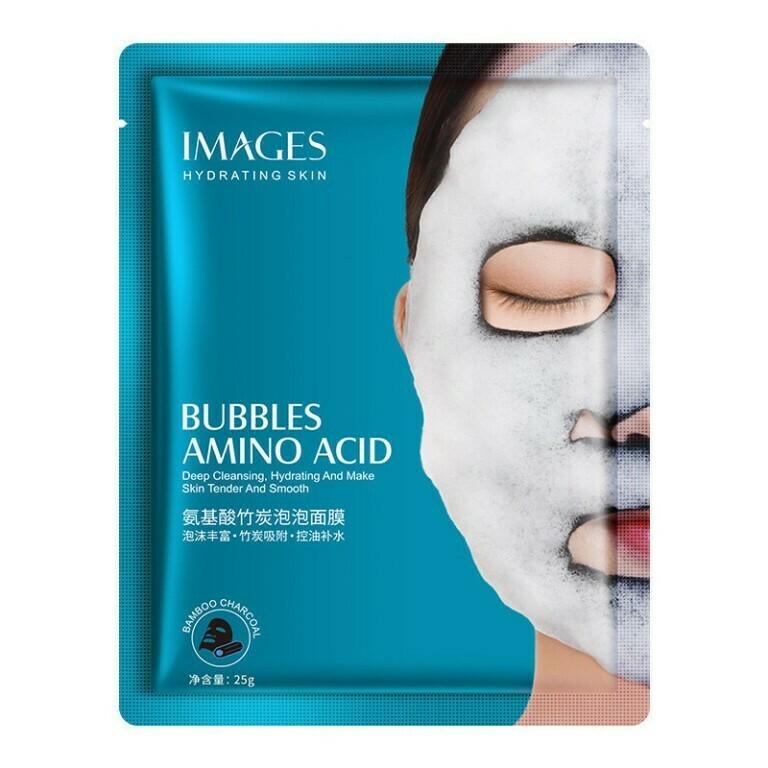 Кислородная маска для лица с бамбуковым углём и аминокислотами