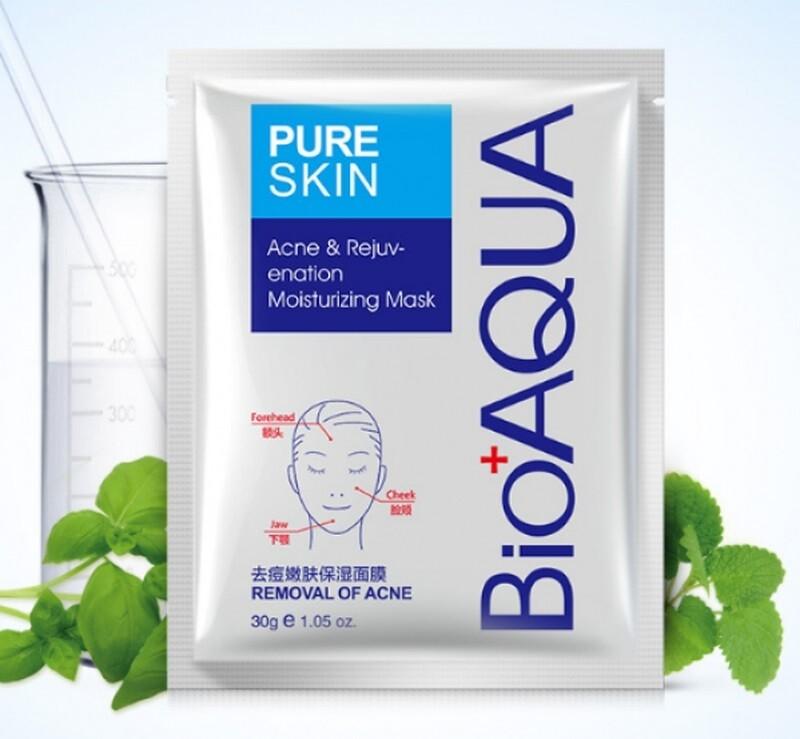 Маска для лица анти акне и сужение пор Bioaqua Pure Skin Acne Rejuvenation Moisturising