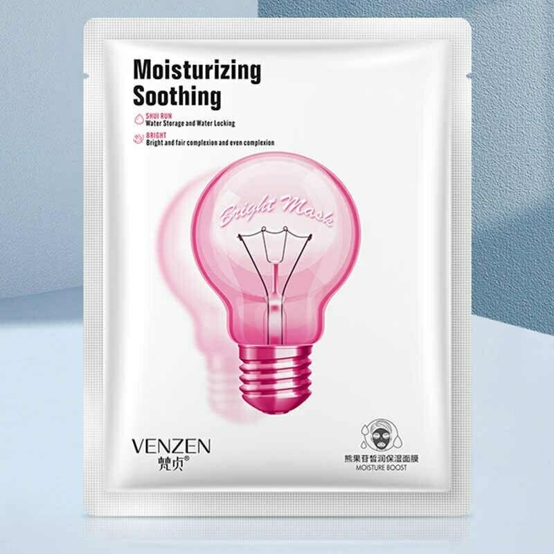 Маска для сияния кожи с арбутином Venzen Moisturizing Soothing