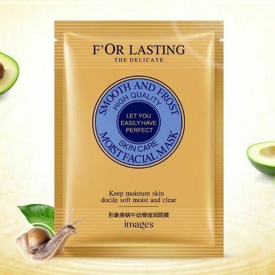 Маска для лица с фильтратом улитки и авокадо, Images F'OR LASTING