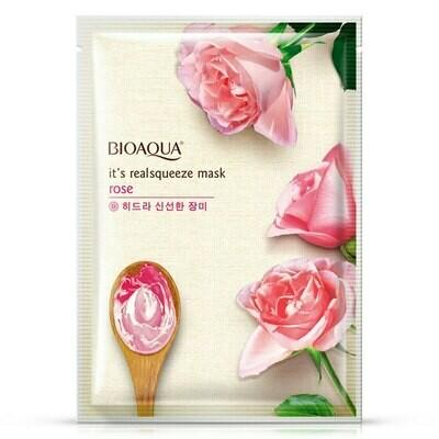 Маска для лица с экстрактом розы BIOAQUA