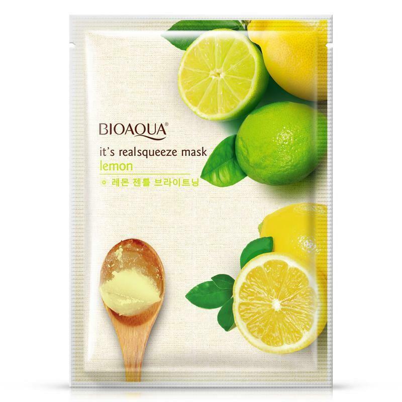 Осветляющая маска для лица с экстрактом лимона и лайма BioAqua