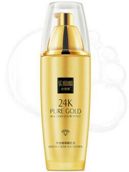 Эмульсия для лица с гиалуроновой кислотой и золотом 24К