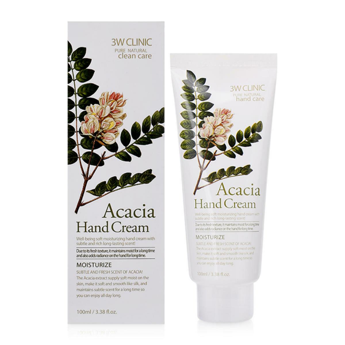 Крем д/рук увлажняющий с экстрактом АКАЦИЯ Acacia Hand Cream, 3W CLINIC 100 мл