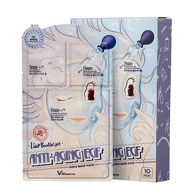 Маска трехступенчатая антивозрастная Anti-aging EGF Aqua Mask Elizavecca