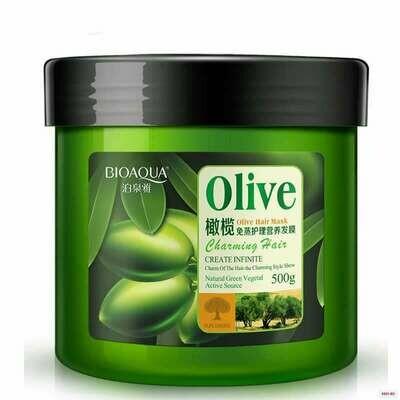 Питательная маска для волос с экстрактом оливкового масла Bioaqua Olive Hair Mask 500 мл