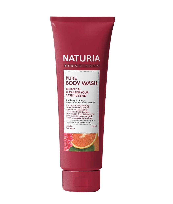 Гель для душа КЛЮКВА/АПЕЛЬСИН PURE BODY WASH (Cranberry & Orange), 100 мл NATURIA