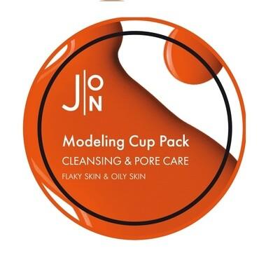 Альгинатная маска для лица ОЧИЩЕНИЕ/СУЖЕНИЕ ПОР Cleansing & Pore Care Modeling Pack, 18 гр J:ON