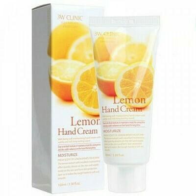 Крем для рук ЛИМОН Lemon Hand Cream, 100 мл 3W CLINIC