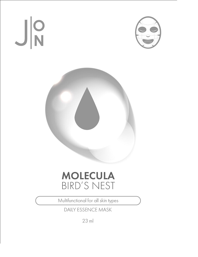 Маска для лица ЛАСТОЧКИНО ГНЕЗДО Molecula Bird's Nest Daily Essence Mask J:ON