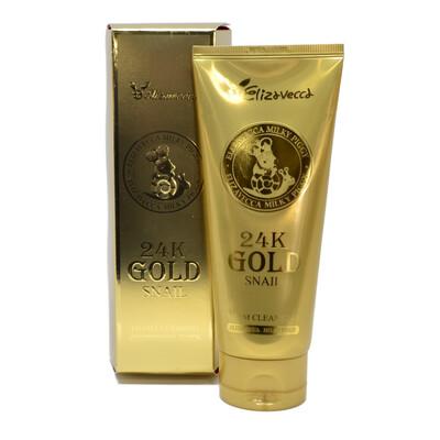 Пенка для умывания МУЦИН УЛИТКИ/ЗОЛОТО 24K Gold Snail Cleansing Foam, Elizavecca 180 мл