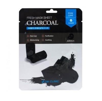 Маска для лица с углем Fresh Charcoal Mask Sheet 3W Clinic