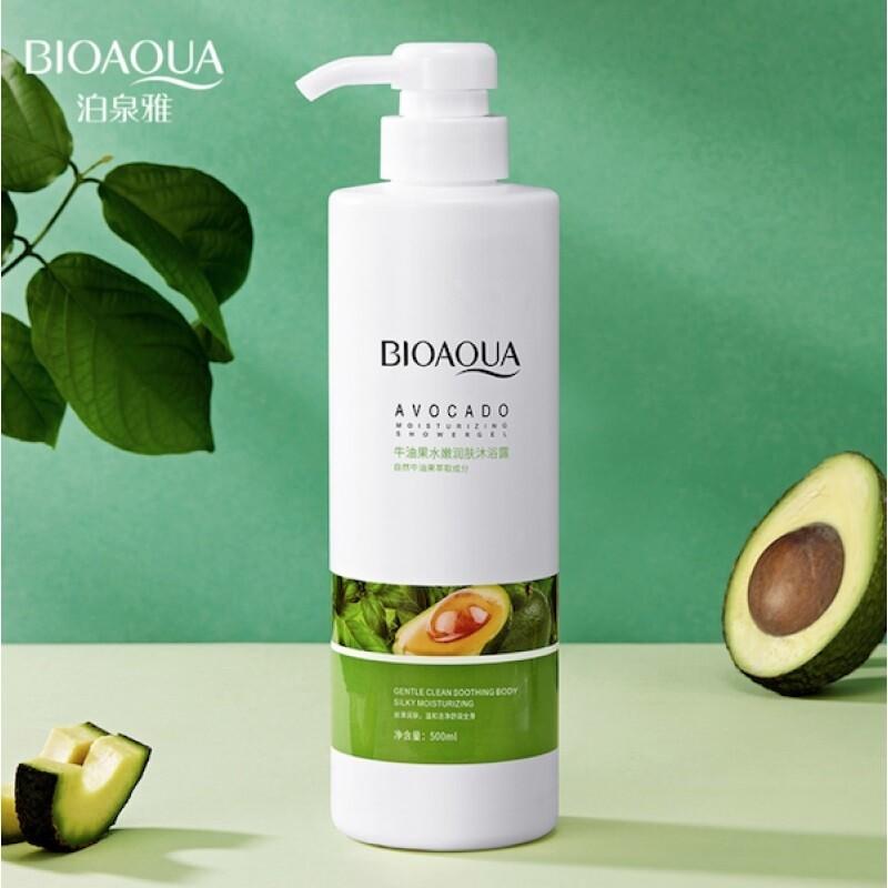 Питательный шампунь от перхоти с экстрактом авокадо BIOAQUA
