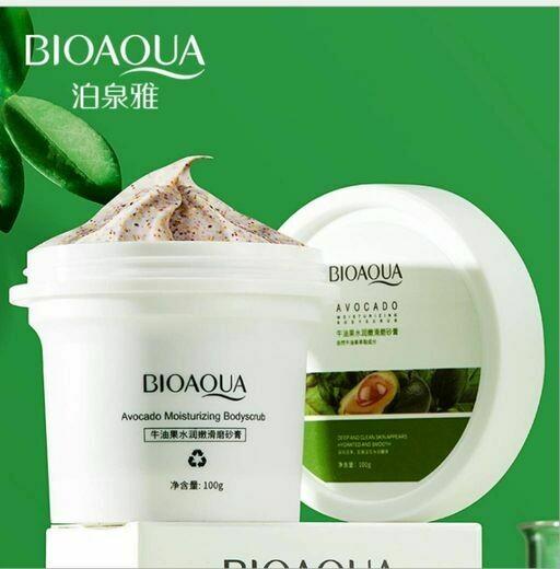 Скраб для лица и тела с экстрактом авокадо BIOAQUA