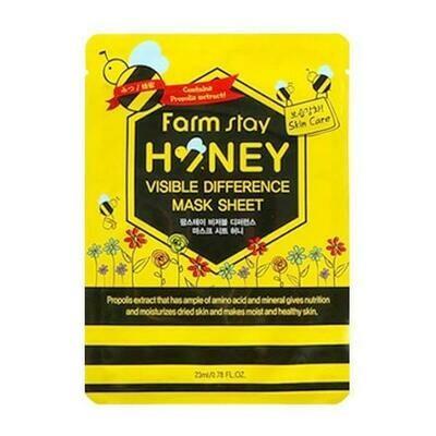 Маска с с медом и прополисом Visible Difference Mask Sheet Honey FarmStay