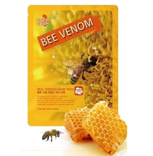 Омолаживающая маска для лица с экстрактом пчелиного яда Real Essence May Island