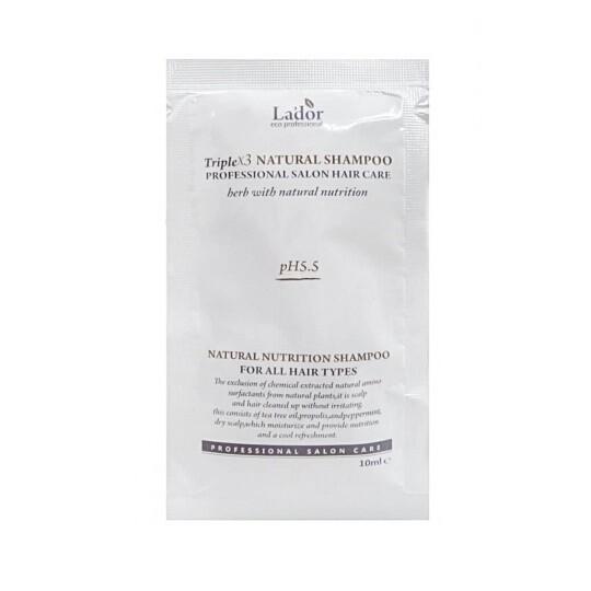 Шампунь с натуральными ингредиентами Triplex Natural Shampoo La'Dor, 10 мл