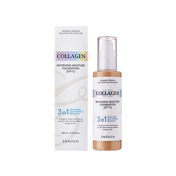 Тональный крем Collagen Whitening Moisture Foundation Enough, 100 мл, тон №21 (для нормальной кожи)