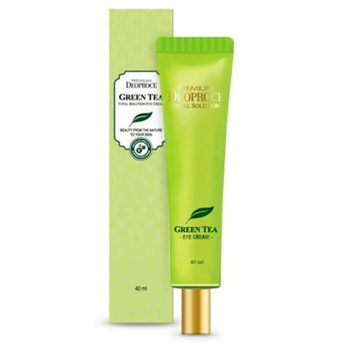 Увлажняющий крем для век с экстрактом зелёного чая Deoproce Premium Greentea Total Solution