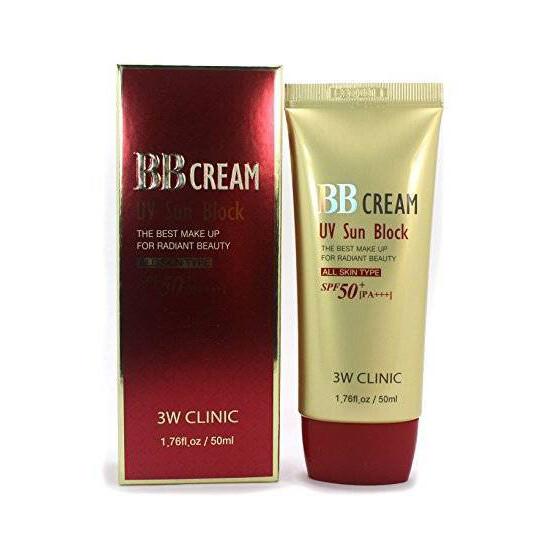 Тональный крем СОЛНЦЕЗАЩИТНЫЙ BB Cream UV Sun Block, 3W CLINIC 50 мл