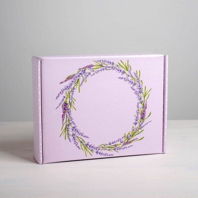 Складная коробка Лаванда, 27 × 21 × 9 см