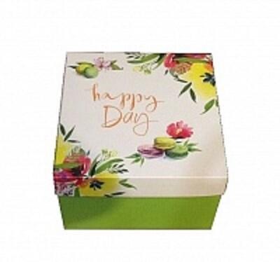 Коробка для композиций и подарков 195*195*125 Happy Day