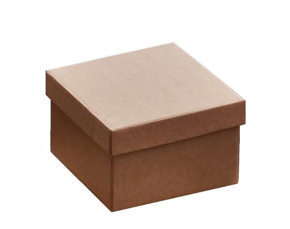 Коробка для подарков 195*195*125 крафт бурый