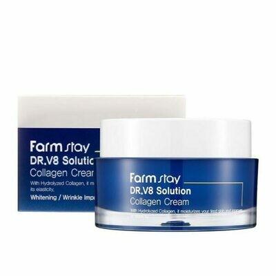 Крем с коллагеном Dr-V8 Solution Collagen Cream Farmstay