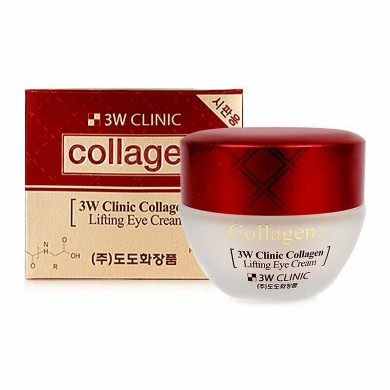 Лифтинг крем для век с коллагеном Collagen Lifting Eye Cream, 3W Clinic