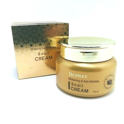 Крем для лица с экстрактом улитки Whitening And Anti-Wrinkle Snail Cream Deoproce