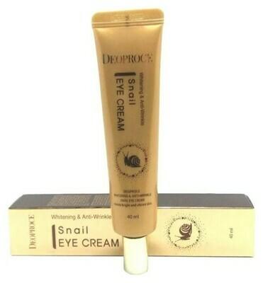 Крем для век с экстрактом улитки Whitening And Anti-Wrinkle Snail Eye Cream Deoproce