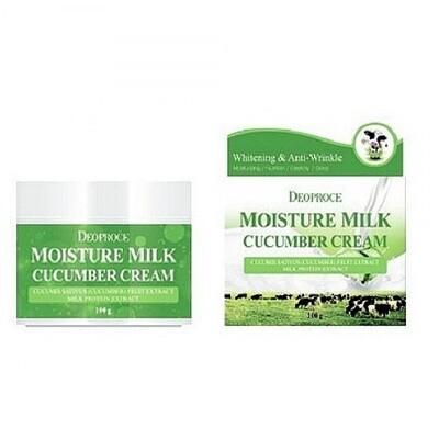 Крем для лица увлажняющий с экстрактом огурца Moisture Milk Cucumber Cream Deoproce