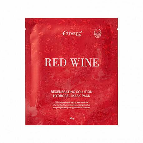 Гидрогелевая маска с красным вином Esthetic House Red Wine Regenerating Solution Hydrogel Mask Pack ESTHETIC HOUSE