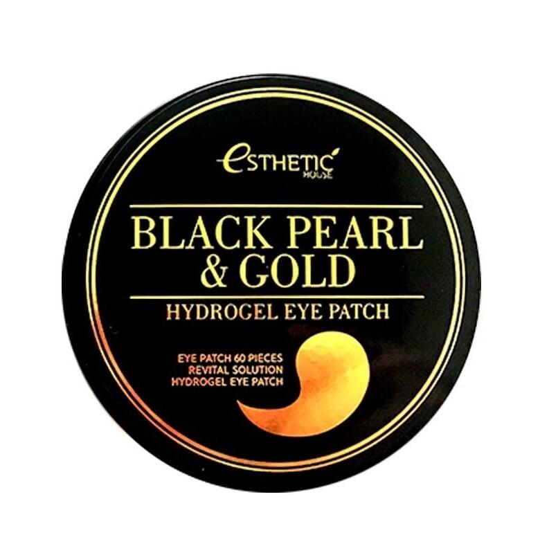 Гидрогелевые патчи для глаз ЧЕРНЫЙ ЖЕМЧУГ/ЗОЛОТО Black Pearl&Gold Hydrogel EyePatch, 60 шт ESTHETIC HOUSE