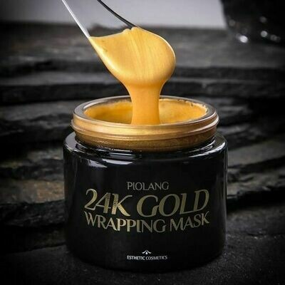 Маска для лица с 24 каратным золотом Esthetic House Piolang 24K Gold Wrapping Mask ESTHETIC HOUSE