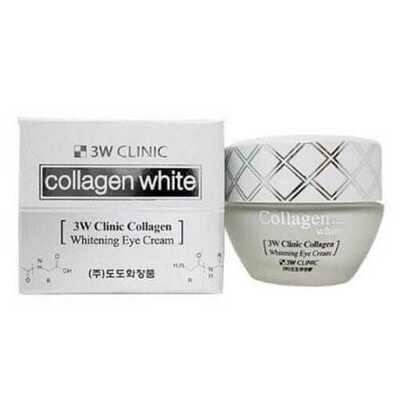 Крем для век осветляющий с коллагеном Collagen Whitening Eye Cream, 3W Clinic
