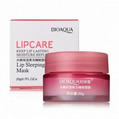 Увлажняющая ночная маска для губ с коллагеном Bioaqua 20гр