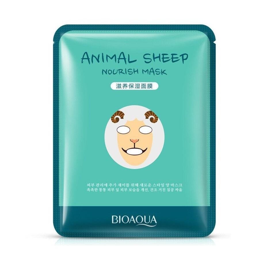 Маска для лица тканевая Animal Face Sheep осветляющая Bioaqua