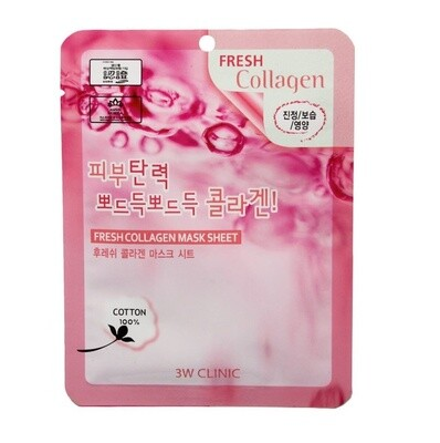 Тканевая маска для лица КОЛЛАГЕН Fresh Collagen Mask 3W CLINIC