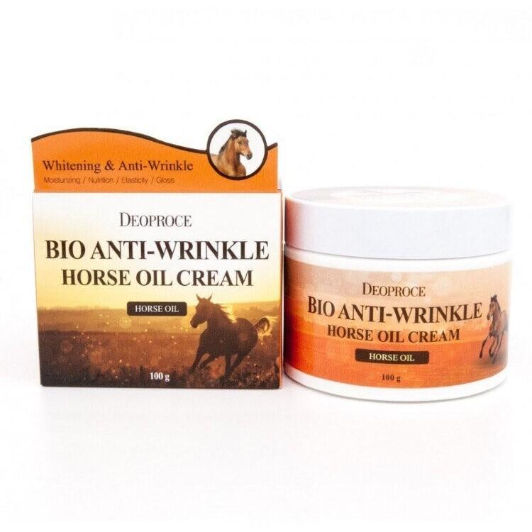 Биокрем против морщин с лошадиным жиром Bio Anti-Wrinkle Horse Cream Deoproce