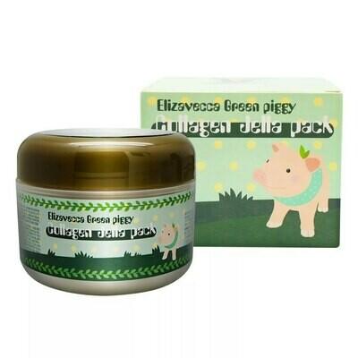 Маска для лица ЛИФТИНГ/КОЛЛАГЕН Green Piggy Collagen Jella Pack, Elizavecca 100 мл