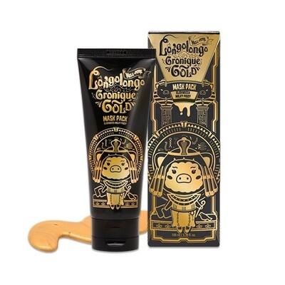 Маска-пленка для лица ЗОЛОТО Hell-pore longolongo gronique gold mask pack, Elizavecca 100 мл