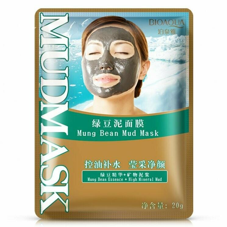 Грязевая очищающая маска с экстрактом соевых бобов Bioaqua 20 гр.