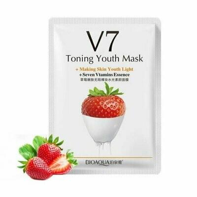 Витаминная маска V7 с экстрактом клубники BIOAQUA