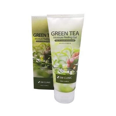 Пилинг-гель с зеленым чаем Green Tea Moisture Peeling Gel, 3W Clinic 180 мл